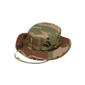 TRU-SPEC-3223-Boonie-Hat-Woodland-Camo-COTTON-RIPSTOP-MIL-SPEC-FREE-SHIPPING
