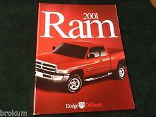 MINT 2001 DODGE RAM PICKUP TRUCK DELUXE SALES BROCHURE 38pg ORIGINAL (BOX 485)