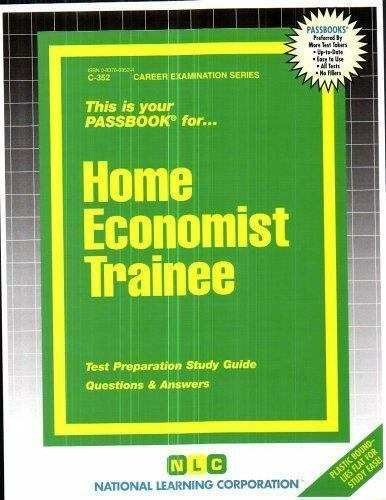 Home Economist Trainee by National Learning Corporation-ExLibrary