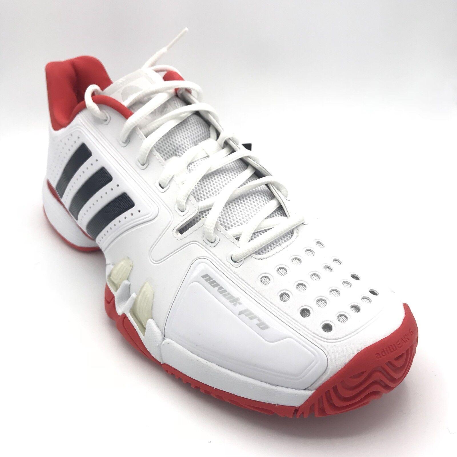 Adidas novak pro männer tennisschuhe turnschuhe neuen weiß - rot cg3081