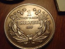 Seated Liberty Toned Vintage 1 oz 999 fine Silver