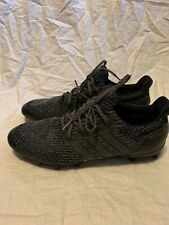 4cec8feb98b Adidas ULTRA BOOST Cleats Triple Black Football Men s Size 14 Primeknit Mesh