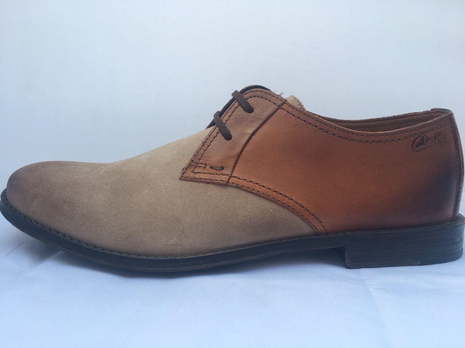 Clarks 'Hawkley Walk' Wolf Combination Men Shoes, Size 10G
