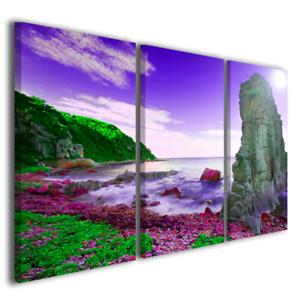 Quadri paesaggi Summer rock stampe su tela moderne tramonti ...