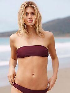f13daab8fa1d NEW Free People Solid Purple Lex Basic Bandeau Swimsuit Bikini Top ...