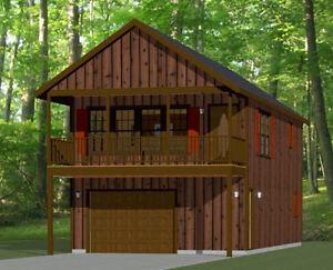 20x40 House -- 1 Bedroom 1.5 Bath -- 1,053 sq ft -- PDF Floor Plan -- Model 6D
