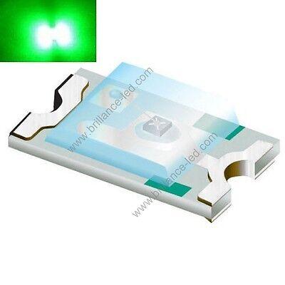 50x Led CMS SMD 0805 Vert à souder PLCC-2 green 0805 smd haute luminosité