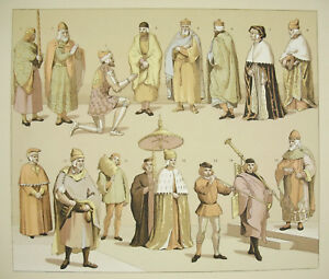 Suits-Traditional-Italy-Italia-Girard-Firmin-Didot-c1888-Lithography