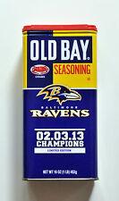 Baltimore Ravens Old Bay Seasoning Superbowl Champions Limited Edition, NEW