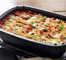 Tupperware UltraPro Lasagna Pan & Cover Freezer~Oven Safe 3.5 qt & Spoon New