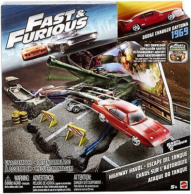 Estricto Mattel Fast & Furious Playset Street Scene Highway Havoc W/ 1 Vehicle 69 Charger
