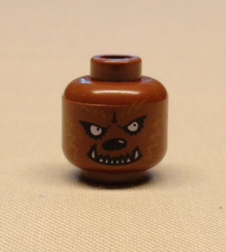 x1 NEW Lego Minifig Head with Werewolf Pattern Scary Halloween Minifigure