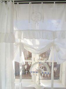 Raff-Gardine-LARA-Weiss-180x120-Spitze-Volant-bestickt-LillaBelle-Landhaus-Shaby
