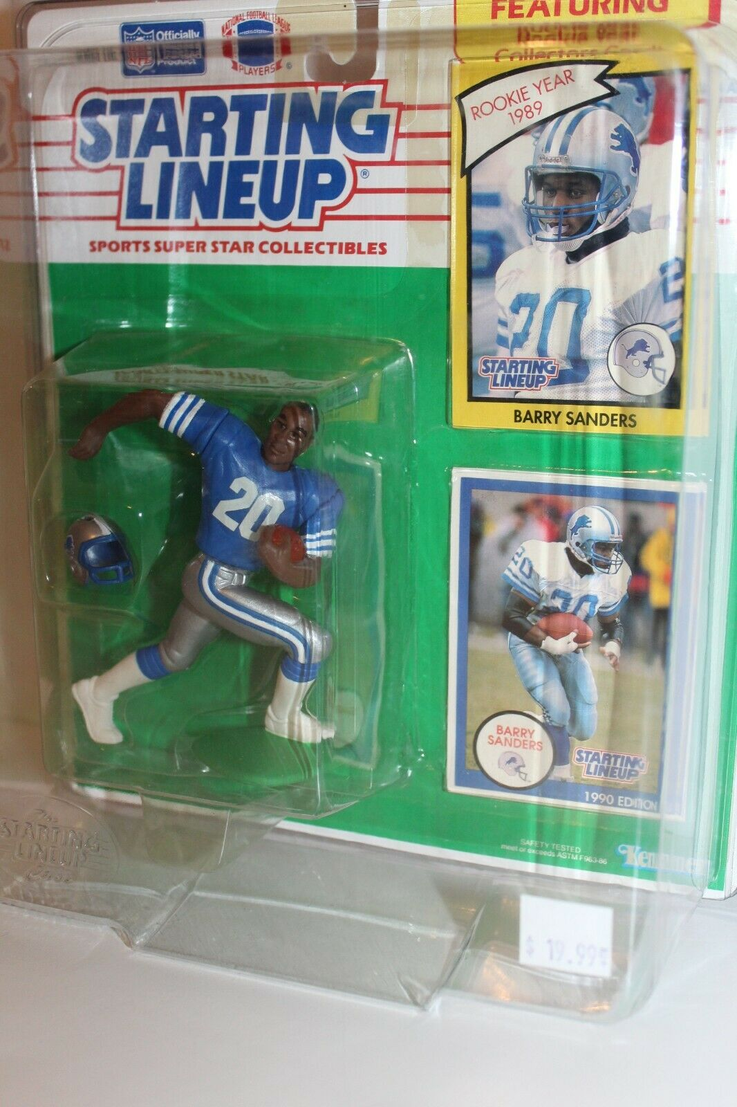 NEW Starting lineup Action Figure Barry Sanders Kenner 1990 Detroit Lions Footba