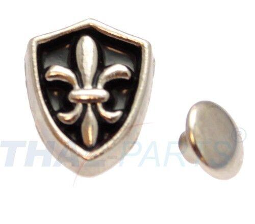 100 pièces rivets décoratifs bouclier #24 motif rivets en cuir clouté zierniete motif rivets