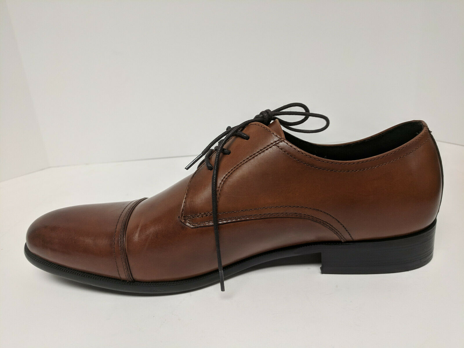 Kenneth Cole New York Capital Lace Up Oxford, Brandy, Mens 11.5 M