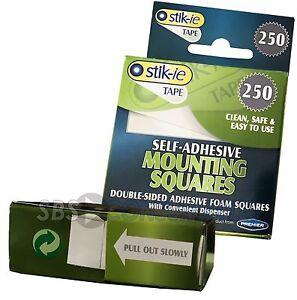 1000 carrés de montage adhésif self 17 x 12 mm Double face onglets de ruban adhésif  </span>