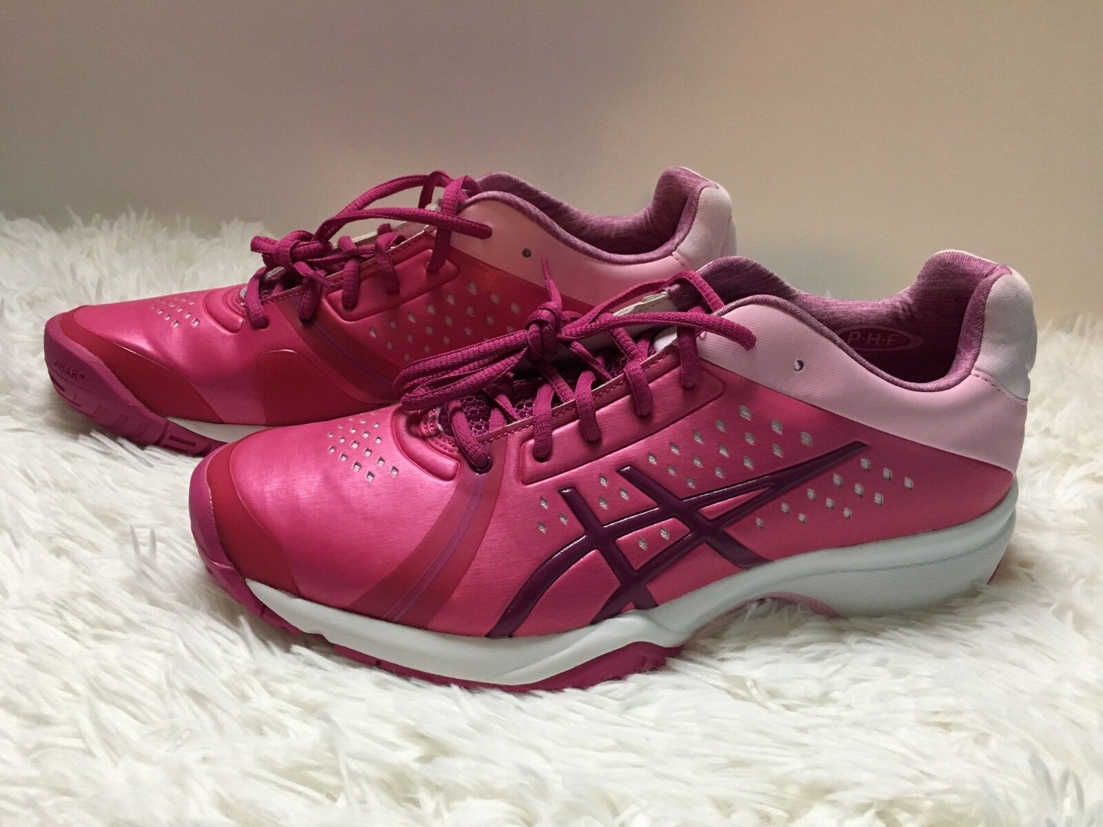 Asics Exercise Fitness shoes Gel-Court Bella Berry Plum & Pink Athletic 8.5 New