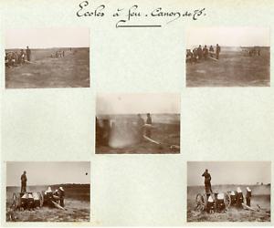 France-Ecole-a-feu-Canon-de-75-Vintage-citrate-print-Collage-5-photos-de-5-5