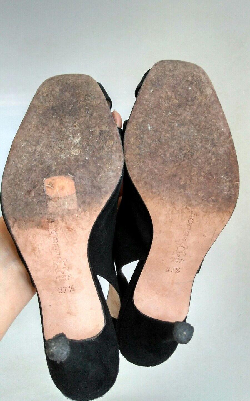 HOBBS schwarz 4.5 evening Sandales Größe 4.5 schwarz  100% Leder schwarz suede b0d1ac
