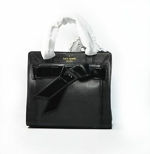 1fe312e65 Details about Kate Spade Bag Bow Valley Mika Black Leather New With Tag  Crossbody