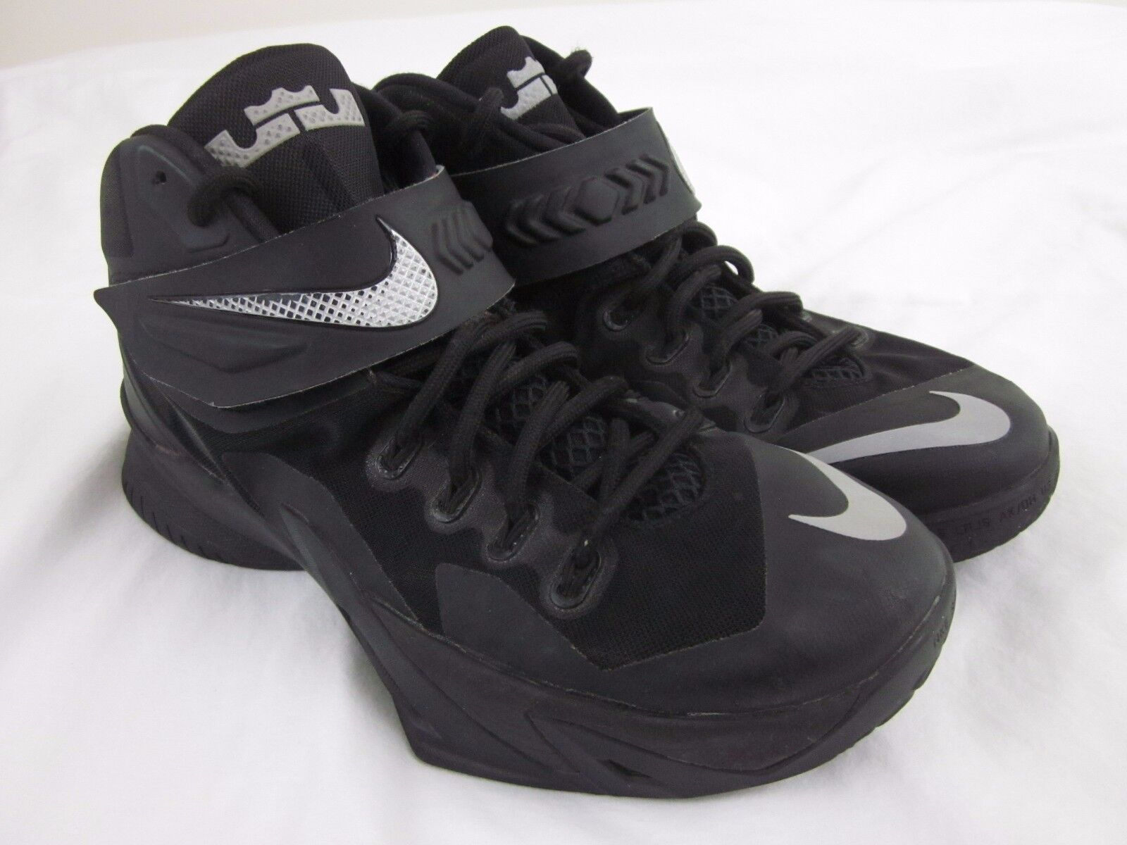 Nike Lebron Zoom Soldier 8.5 8 VIII Blackout Size 8.5 Soldier Black / Silver 653641-001 6d88b9