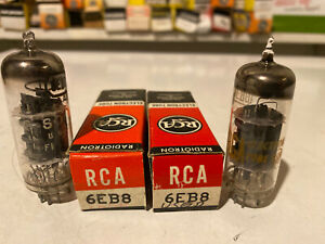 Lot-Of-2-6EB8-VINTAGE-ELECTRON-VACUUM-TUBES-RCA-TUNG-SOL-NOS-STRONG