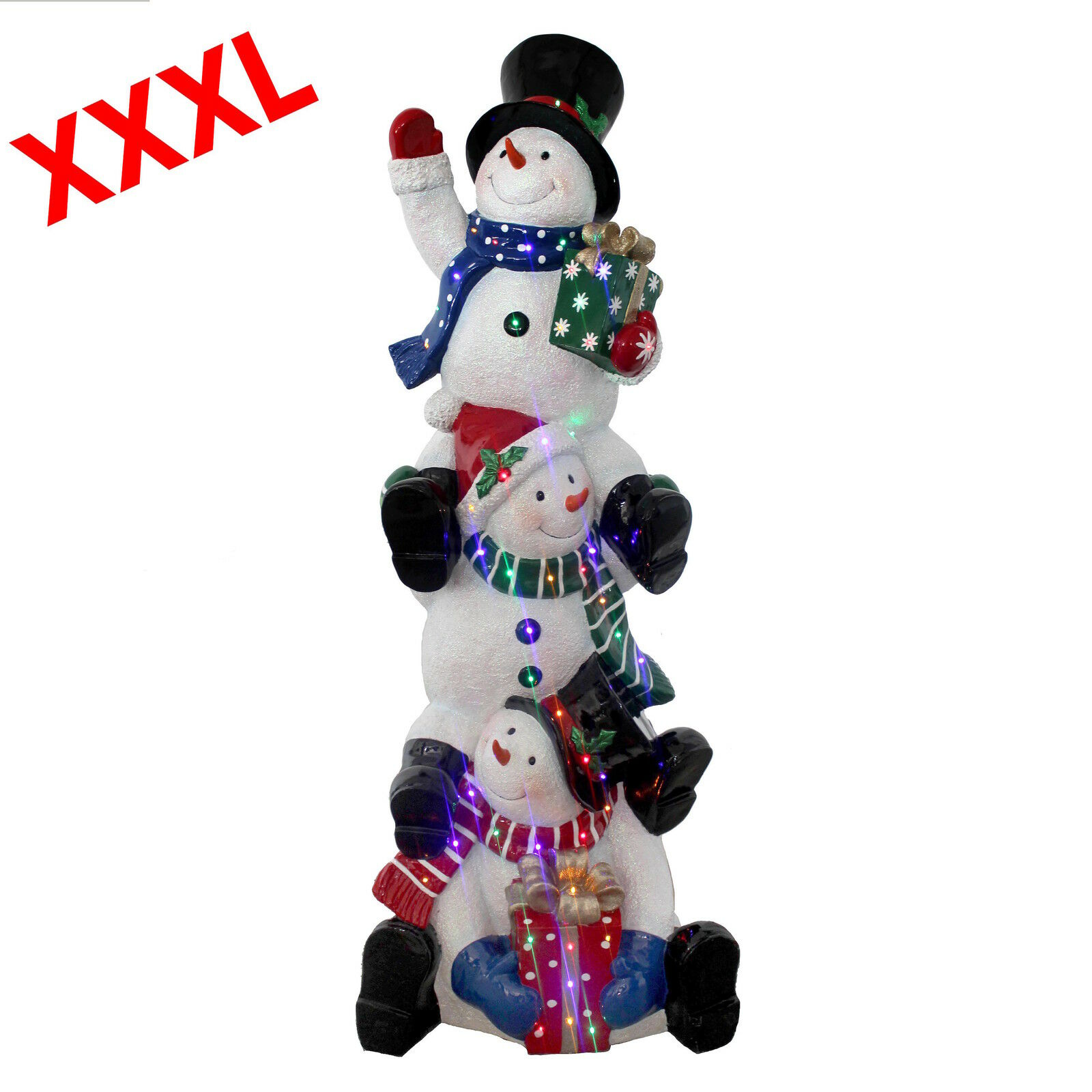 Giant Snowman Family Illuminated 152 cm Large Display Window Decoration 90254