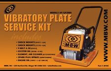 Mbw Plate Compactor Gpap 2000 Service Kit Withhonda Engine