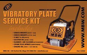 Mbw-Placa-Compactador-Gp-Ap-2000-Kit-de-Mantenimiento-con-Motor-Honda