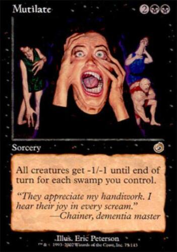 Mutilate Near Mint Normal English Magic the Gathering Torment Magic Card MTG TCG