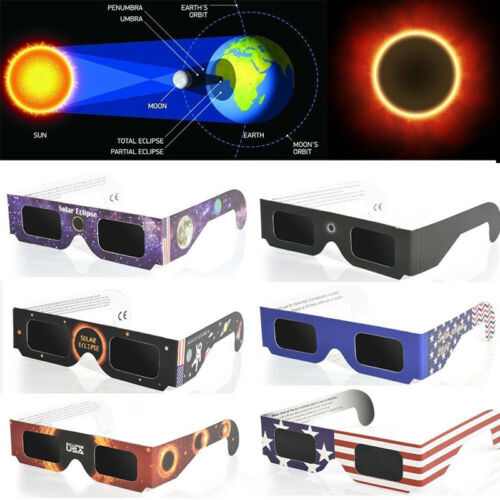 Solar Eclipse Glasses Environmental Protection Approved 2//5//10X Star Gazing Live