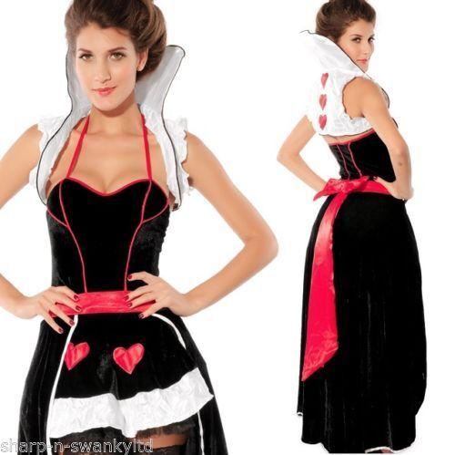 Onorevoli lungo lunghezza Regina di Cuori Alice nel Paese delle Meraviglie Costume