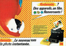 PUBLICITE ADVERTISING 016  1982   Kodak  appareil photo Kodamatic 950 (2p)