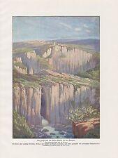 Doline St. Canzian Grotta di San Canziano stampa a colori 1912 San Canzian d'Isonzo