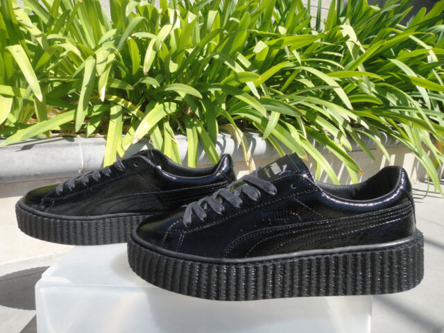 size 40 dc539 c74a4 Fenty Puma by Rihanna, Cracked Patent Leather Black Creeper Wmn 6.5 7 7.5  or 8M