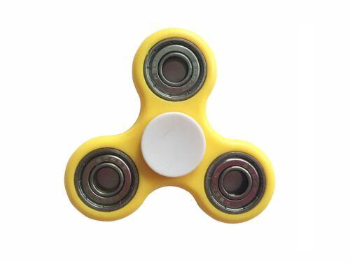 Fidget Spinner Toy mit 4 Kugellagern Gelb