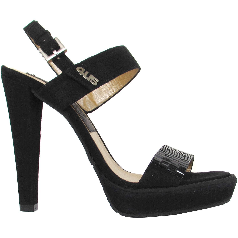 in vendita 4US Cesare Paciotti Donna luxury nero suede heeled sandals Made Made Made in   308  con il 100% di qualità e il 100% di servizio