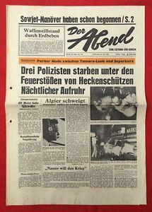 DéVoué Le Soir (24.7.1968): Nocturne émeutes à Cleveland-trois Policiers Sont Morts-afficher Le Titre D'origine Convient Aux Hommes Et Aux Femmes De Tous âGes En Toutes Saisons