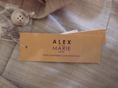 donne Giacca frontale Petite Teak Button Alex taglia Marie 8 Nuove TanqBdP1wP