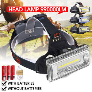 990000LM-LED-USB-Rechargeable-18650-Headlamp-Headlight-Fishing-Torch-Flashlight