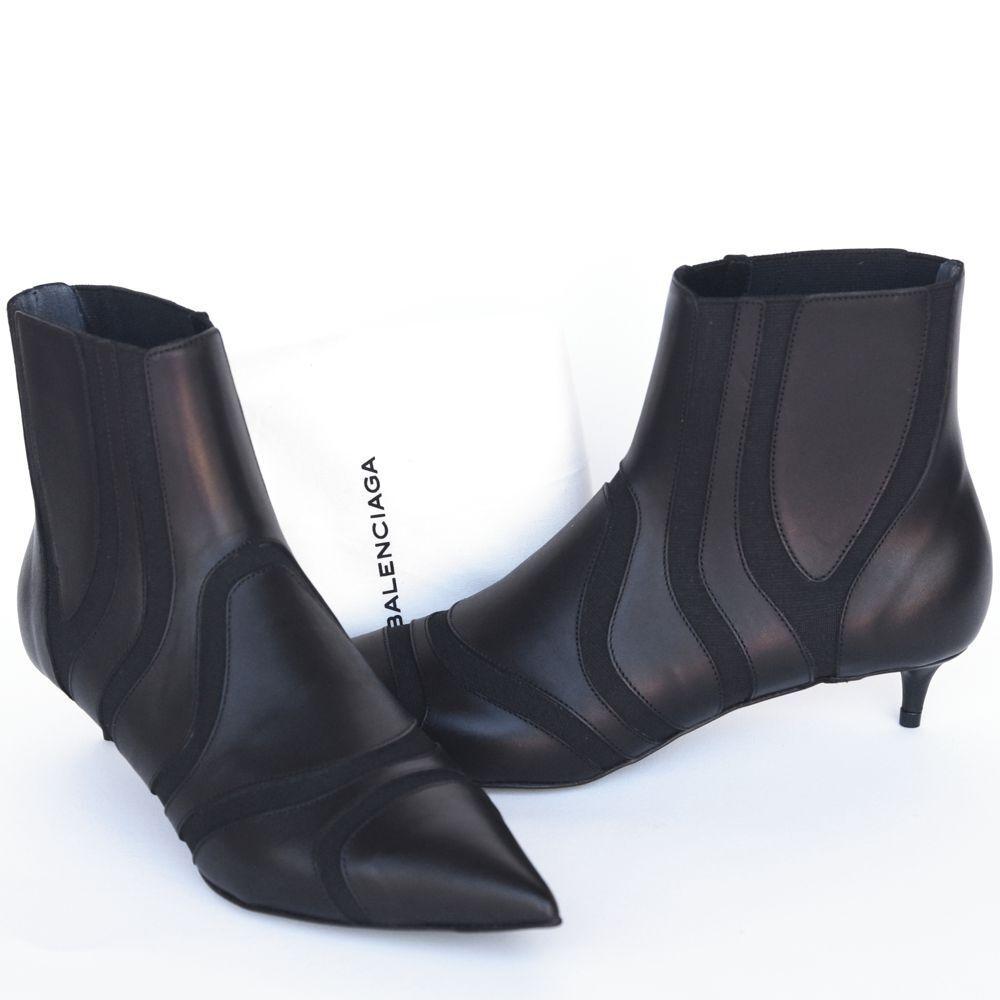 Balenciaga New New New sz 36 - 5.5 Authentic Designer Womens Heels shoes Booties  1255 cf1314