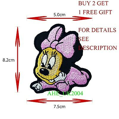 Minnie Mouse Cartoon Characters Embroidered Iron or Sew on Patch #846