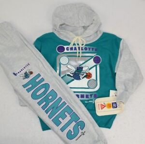 on sale 23598 a770a Details about Vintage 1993 Charlotte Hornets Youth Sweatsuit Hoodie Pants  Set 2T NOS