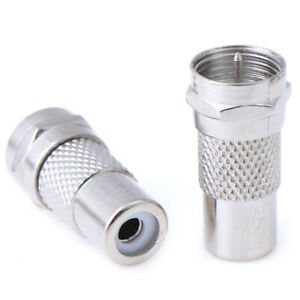 2PCS-F-Type-Male-to-RCA-AV-Female-Plug-Straight-RF-Connector-Coaxial-Adap-ro
