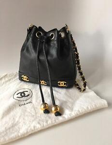 df7ffed8ea4d La foto se está cargando Raro-Mini-Chanel-Vintage-90s-CC-Bandolera-Bolso-