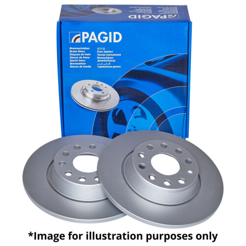 GENUINE PAGID FRONT AXLE SOLID BRAKE DISCS 50902 Ø 256 mm BRAKE KIT BRAKES