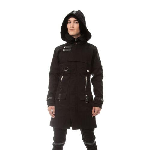 Vixxsin exclusion manteau homme nouveau noir goth punk emo Hommes Hiver Chaud Zip Bracelet