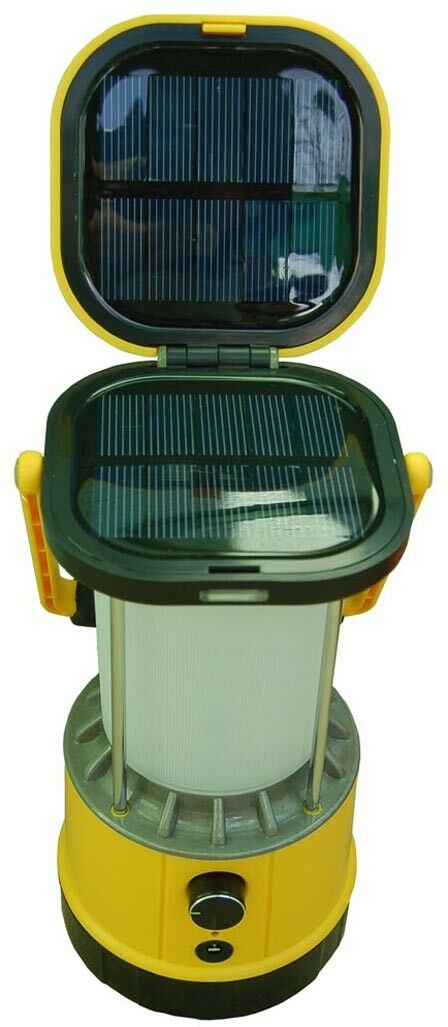 4003 Premium Camping Yellow Bright Solar LED Lantern &  Solar Cell Phone Charger  high quality