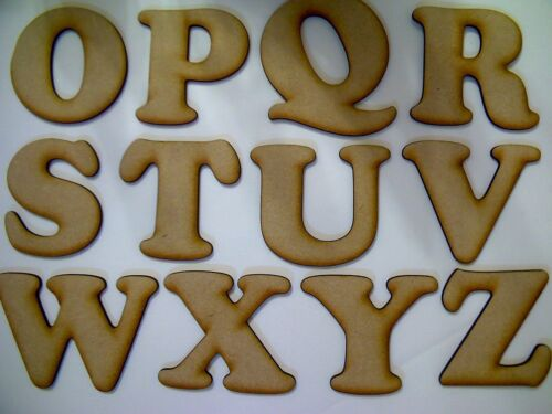 Laser Cut Wooden Letters Cooper Font from 3mm MDF Various Sizes Choose from List